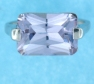 sterling silver Cubic Zirconia ring CZ0004 Purple
