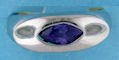 sterling silver Cubic Zirconia ring CZ0005 Purple