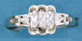 sterling silver Cubic Zirconia ring CZ0006 Clear