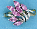 sterling silver Cubic Zirconia ring CZ0009 Pink