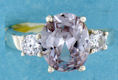 sterling silver Cubic Zirconia ring CZ0010 Purple