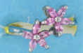 sterling silver Cubic Zirconia ring CZ0012 Pink