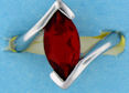 sterling silver Cubic Zirconia ring CZ0013 Red