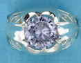 sterling silver Cubic Zirconia ring CZ0034 Purple