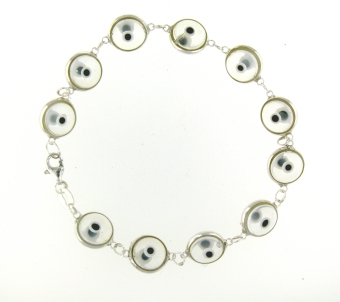 Evil Eye Bracelet EEB013 Translucent Clear