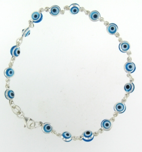 Evil Eye Bracelet EEB6121LB Light Blue