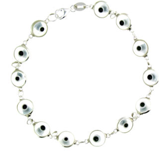 Evil Eye Bracelet EEB713 Clear
