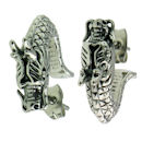 stainless steel skull earrings ERC1001