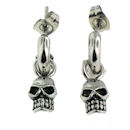 Model ERC1003 skull earrings