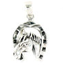 sterling silver horse necklace HNL7061978
