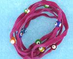 Evil Eye 11465 bracelet Hot Pink with mixed eyes