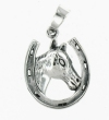 sterling silver horse pendant HP186
