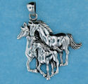 sterling silver horse pendant HP42124