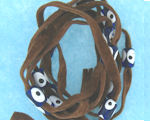 Evil Eye 11465 bracelet Lite Brown with blue eyes