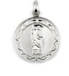 Silver Religious Medals Necklaces