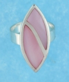 sterling silver MOP ring MOPR0009-PINK