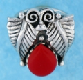 sterling silver MOP ring MOPR0014-RED