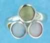 sterling silver MOP ring MOPR0015-MIXED