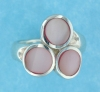 sterling silver MOP ring MOPR0015-PINK