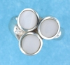 sterling silver MOP ring MOPR0015-NAT WHITE