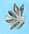 sterling silver MOP ring MOPR0018-ABALONE