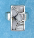 sterling silver MOP ring MOPR0021-WHITE