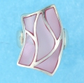 sterling silver MOP ring MOPR0022-PINK