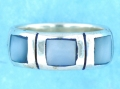 sterling silver MOP ring MOPR0030-BLUE