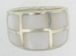sterling silver MOP ring MOPR008-NATURAL