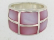 sterling silver MOP ring MOPR008-PINK