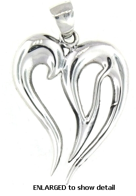 model PAP0931 heart pendant enlarged view