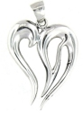 sterling silver heart pendant pap0931