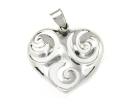 sterling silver heart pendant pap1058