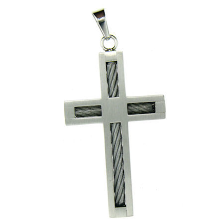 PDJ0012 stainless steel cross pendant ENLARGED