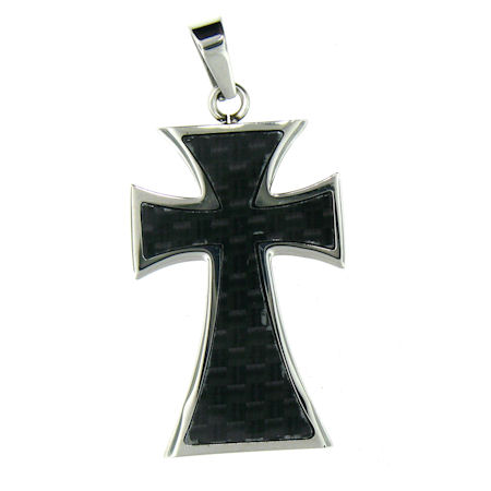 PDJ0025 stainless steel cross pendant ENLARGED