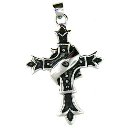 PDJ2007 stainless steel cross pendant ENLARGED