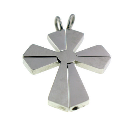 PDJ2086 stainless steel cross pendant ENLARGED
