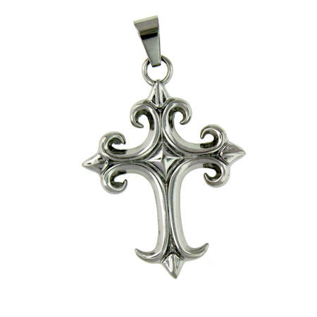 PDJ2111 stainless steel cross pendant ENLARGED