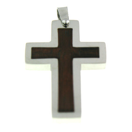 PDJ3165 stainless steel cross pendant ENLARGED