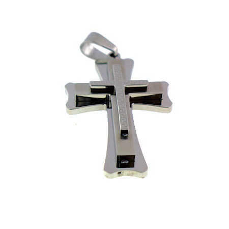 PDJ3206 stainless steel cross pendant ENLARGED