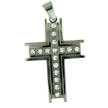 PDJ3354 stainless steel cross pendant ENLARGED