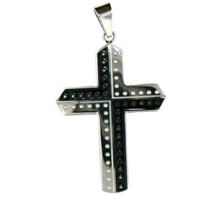 PDJ3359 stainless steel cross pendant ENLARGED