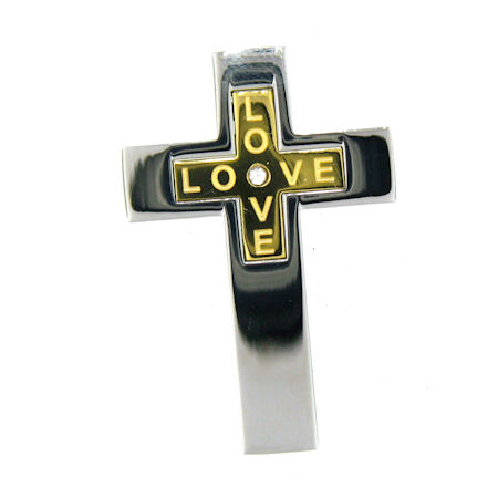 PDJ3379 stainless steel cross pendant ENLARGED