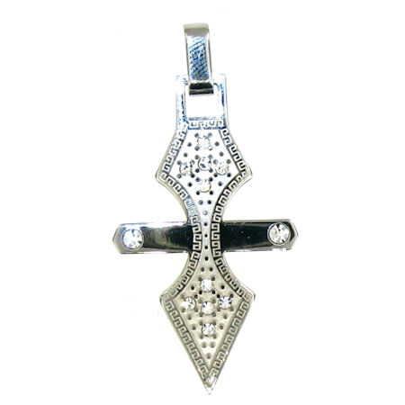 PDJ3388 stainless steel cross pendant ENLARGED