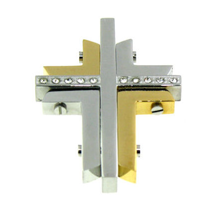 PDJ3393 stainless steel cross pendant ENLARGED