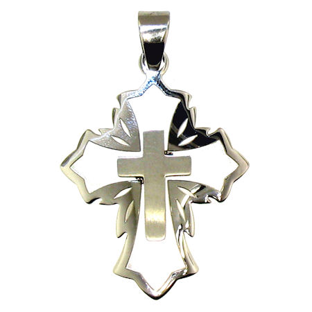 PDJ3542 stainless steel cross pendant ENLARGED