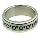 stainless steel spinner ring style RRJ0066