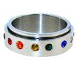 stainless steel Worry ring SRJ0111
