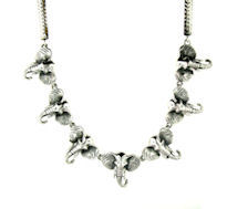 sterling silver elephant necklace WENK17