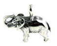sterling silver elephant pendant WEP0593